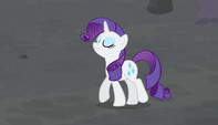 Rarity walks toward the village S5E1