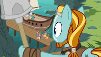 Rockhoof watching the boat leave S7E16