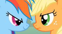 S01E13 Rainbow Dash i Applejack twarzą w twarz