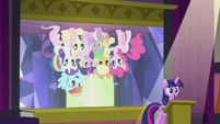 Slide of Mane Six upside-down S5E25