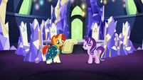 Starlight shows her new spell to Sunburst S7E24