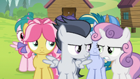 Sweetie Belle getting mad at Rumble S7E21
