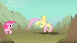 The ponies being dragged into a hole S1E19