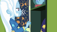 Trixie Lulamoon in front of her locker EGFF