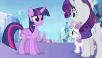 Twilight -figured it out on his own- S4E24