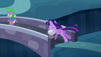 Twilight following Spike S5E26
