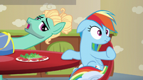 Zephyr Breeze notices Rainbow Dash S6E11