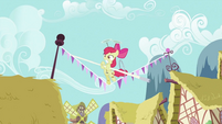 Apple Bloom holding a pole S2E06