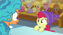 Apple Bloom smiles at Tender Taps S6E4
