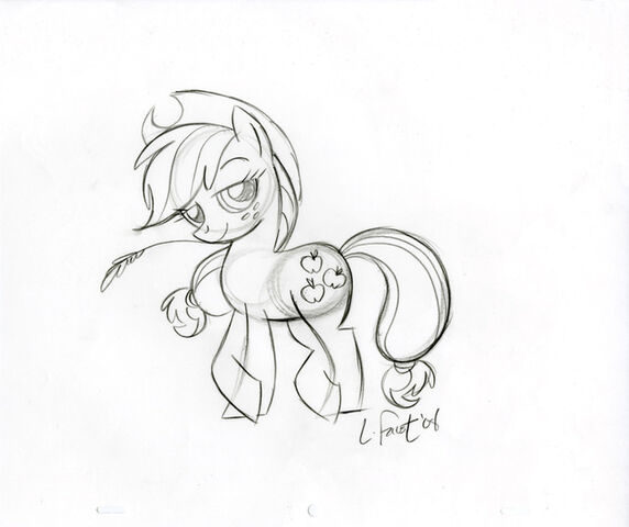 File:Applejack Sketch.jpg