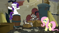 Fluttershy --Smoky made too much noise eating garbage-- S6E9