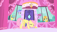 Fluttershy hiding from the paparazzi S1E20