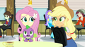 Fluttershy looking toward Applejack EG2.png