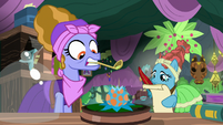 Meadowbrook's mother pours potion on flower S7E20