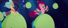 Pinkie Pie holding a lot of necklaces MLPTM