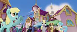 Ponies waving to Princess Twilight (new version) MLPTM