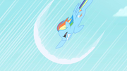 Rainbow Dash's first attempt at sonic rainboom S1E16