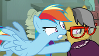 Rainbow Dash pressuring A. K. Yearling S7E18