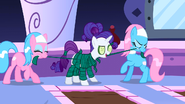 Rarity being prepared by Spa ponies S1E20
