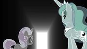 Sweetie Belle e Luna veem uma porta aberta T4E19