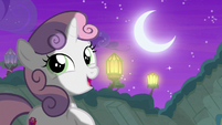 Sweetie Belle sings under the moon and stars S8E6