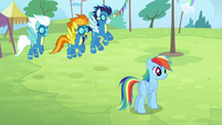 The Wonderbolts arrive on the field S4E10