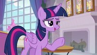 Twilight Sparkle -competitive in the past- S8E9