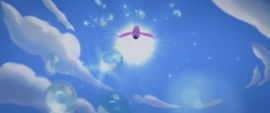 Twilight Sparkle flying up into the sky MLPTM