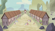 Village's two rows of houses S5E1
