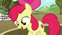 Apple Bloom on a tub of grapes happy S6E4