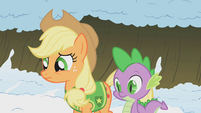 Applejack and Spike concerned S1E11