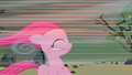 Filly Pinkie Pie blown back by wind S01E23.png