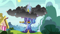 Pegasi move storm clouds to the Castle of Friendship S6E21