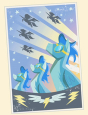 Poster dos Wonderbolts T1E01