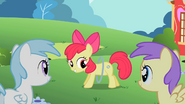 Princess Erroria and Cotton Cloudy impressed by Apple Bloom's moves S2E6