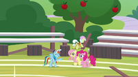 RD commending Fluttershy and Pinkie S9E15