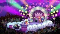 Rainbooms performing at the light parade EGROF