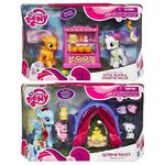 Rainbow Dash, Apple Bloom and Sweetie Belle toy sets from 2011