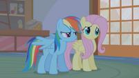 Rainbow Dash -she comes into Ponyville- S1E09