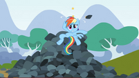 Rainbow Dash after the rock S3E9