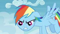 Rainbow Dash growling S4E22