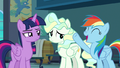 Rainbow Dash raising a hoof in triumph S6E24.png