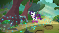 Rarity tells Rainbow Dash to slow down S8E17
