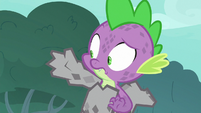 Spike getting encased in stone S8E11