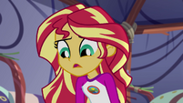 Sunset Shimmer asks Spike where Twilight is EG4