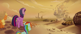 The Mane Six arrive at Klugetown MLPTM