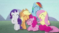Twilight's friends laughing at Trixie BFHHS3
