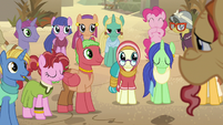 Villagers pleased by Elder Stallion's story S7E18