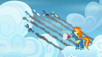 Wonderbolts fly through the sky S6E7