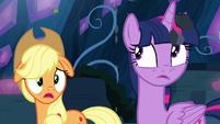 "Applejack ""what's goin' on?"" S9E1"